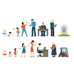 generations and gadgets composition vector image