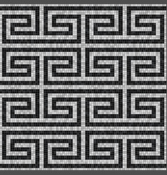 Geometric black and white mosaic seamless pattern vector