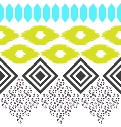 Geometric ethnic border pattern Ikat rhombus and vector