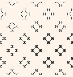 Geometric seamless pattern with abstract cross vector