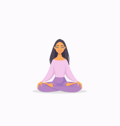 Girl yoga vector