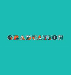 Graduation concept word art vector