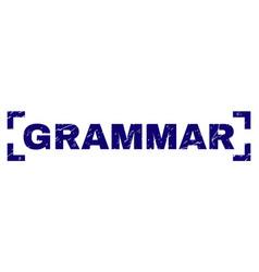 Grunge textured grammar stamp seal inside corners vector
