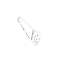 hacksaw or hand saw flat icon vector image