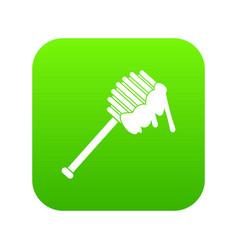 honey spoon icon digital green vector image