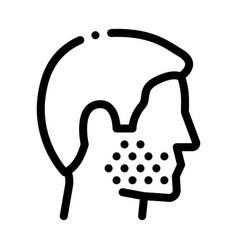 Human facial bristle icon outline vector