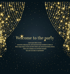 Invitation template for the event background open vector