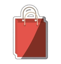 Isolated shopping bag design vector image