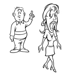 man flirting with woman bw vector image