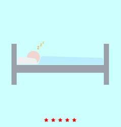 man sleeping set it is color icon vector image