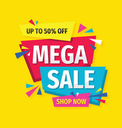 mega sale - concept promotion banner abstract vector image