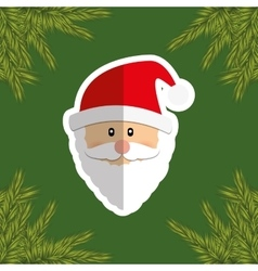 Merry christmas santa claus card vector