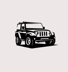 Modern suv logo template offroader car stylized vector