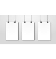 Paper poster pockup design Paper sheet blank vector image