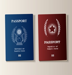 Passport set vector
