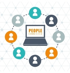 People and social network design vector image