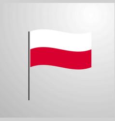 Poland waving flag vector
