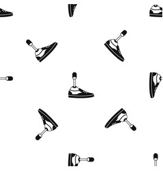 Prosthetic leg pattern seamless black vector