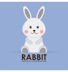 Rabbit cute vector