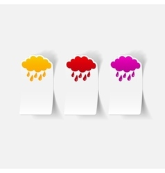 Realistic design element cloud rain vector
