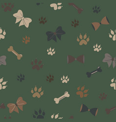 seamless dog paw pattern vector image