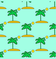 seamless tropical pattern depicting palm vector image