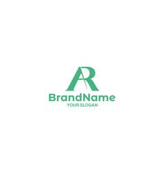 Simple ar logo design vector