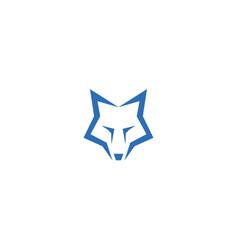 simple fox head logo design vector image
