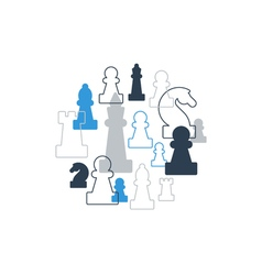 Strategy game chess background vector