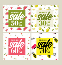 summer sale website banners collection vector image