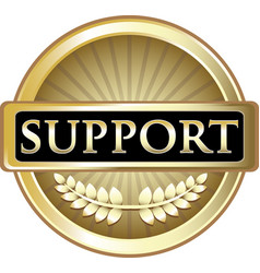 Support gold icon vector