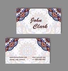 Template business card geometric vector