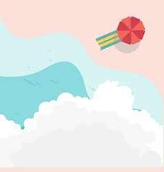 top view beach landscape with cloud for element vector image