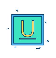 Underline icon design vector