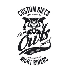 Vintage bikers club t-shirt vector