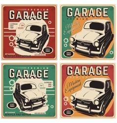 Vintage poster auto repair vector