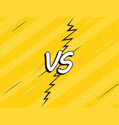 vs versus fight backgrounds comics style design vector image