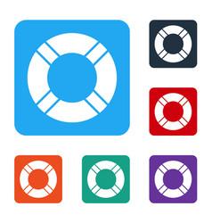 White lifebuoy icon isolated on white background vector