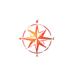 windrose navigation compass direction concept vector image