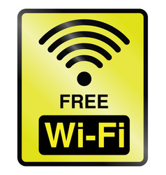 free wifi information sign vector image vector image