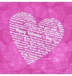 Pink heart on Valentines Day vector image vector image
