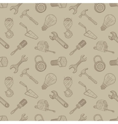 Tools drawing seamless background vector image vector image