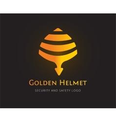 Abstract helmet logo template for branding vector image