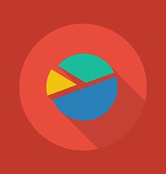 Business Flat Icon Pie Chart vector image
