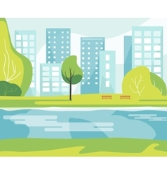 City Park with River vector image