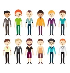Collection of different men and women vector image vector image