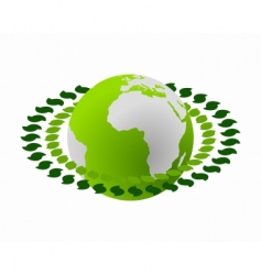 green earth vector image vector image