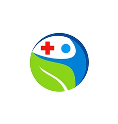 people health care medic cross logo vector image vector image