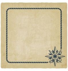 wind rose marine background vector image