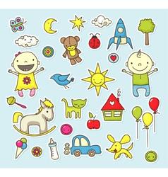 Baby stickers vector